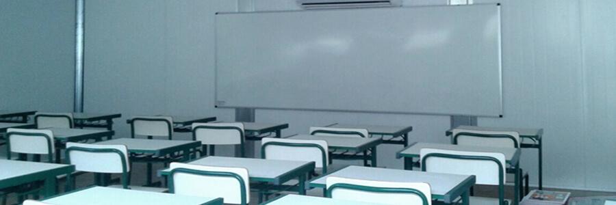 Containers da Brasmódulos viram sala de aula
